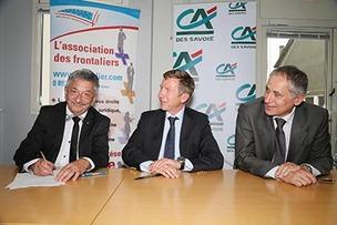 Retraite frontaliers, convention signée avec le Crédit Agricole des Savoie