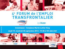 Forum de l'emploi transfrontalier les 19 et 20 septembre 2013
