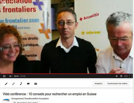 Web –conférence sur l'emploi en Suisse, un véritable succès !