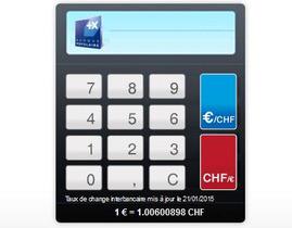 Suivez le taux de change €/CHF sur notre convertisseur