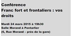 Franc fort et emploi frontalier, conférence organisée par UNIA