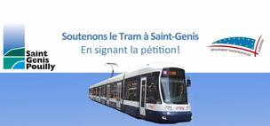 Soutenons le tram à Saint-Genis-Pouilly, signons la pétition !
