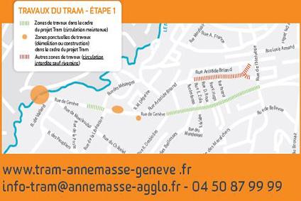 Tram transfrontalier à Annemasse, suivez les travaux