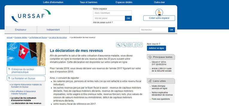 Cotisation CMU 2019 : déclaration de revenus au CNTFS