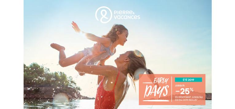 Pierre & Vacances : early booking & soleil d'ailleurs
