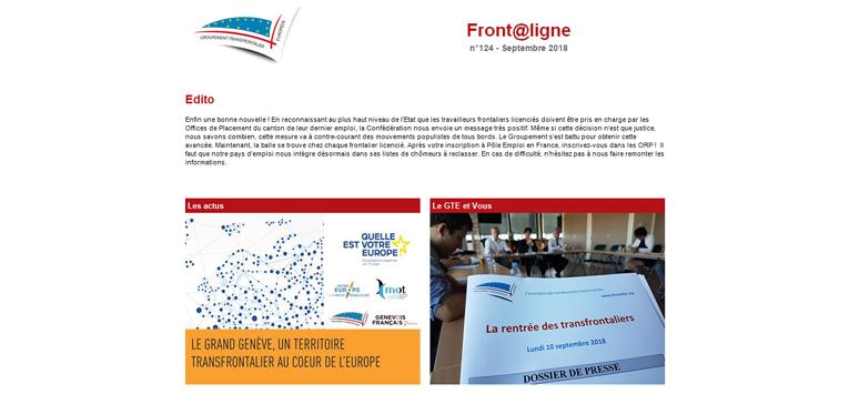 Front@ligne, la newsletter des frontaliers franco-suisses
