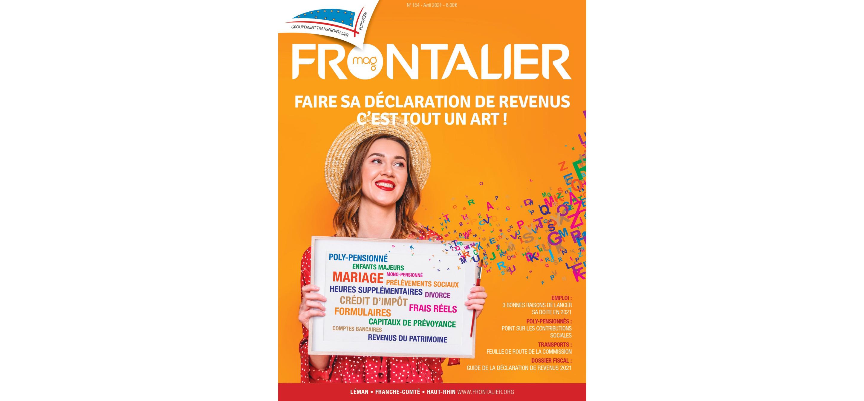 Le Frontalier magazine d'Avril est en ligne